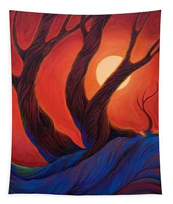 Tapestry featuring the painting Earth  Wind  Fire by Sandi Whetzel
