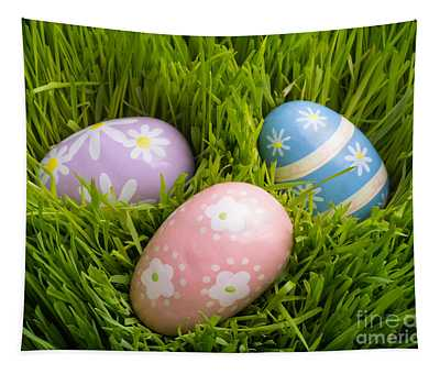 Easter Eggs In The Grass Tapestry
