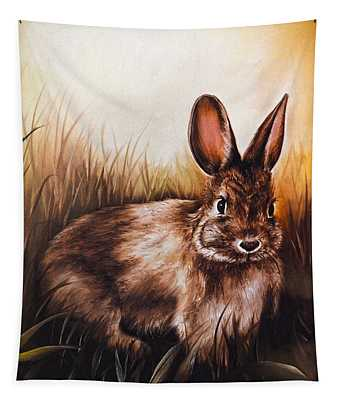 Eastern Cottontail Rabbit Tapestry