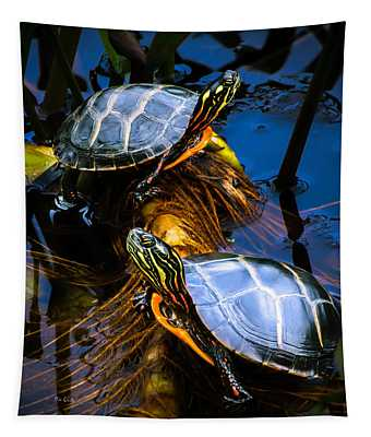 Eastern Painted Turtles Tapestry
