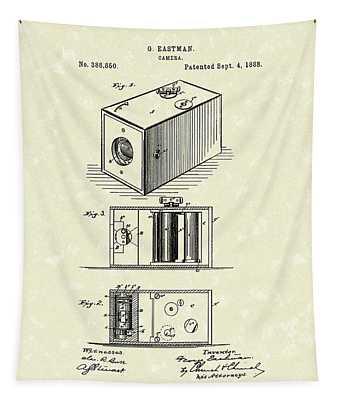 Eastman Camera 1889 Patent Art Tapestry