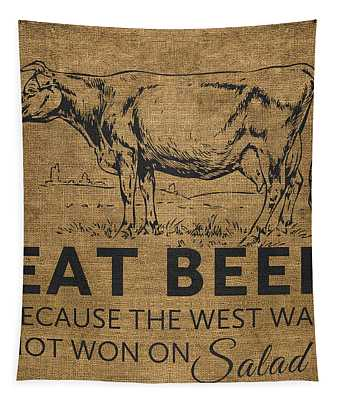 Eat Beef Tapestry