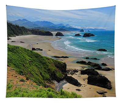 Ecola State Park Beach Tapestry
