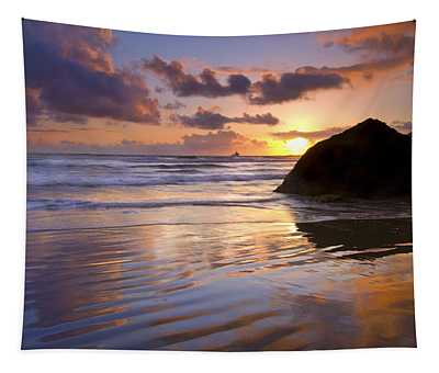 Ecola Sunset Tapestry