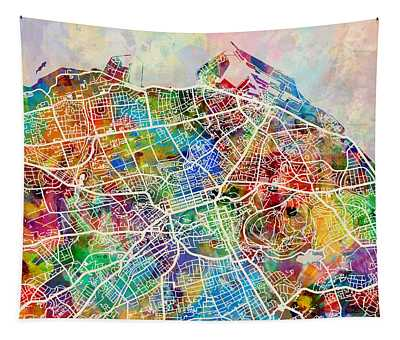 Edinburgh Street Map Tapestry
