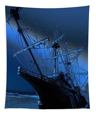 Eerie Light Over El Galeon Tapestry