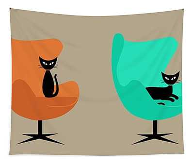 Egg Chairs Tapestry
