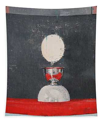 Egg Over Red And Black Tapestry