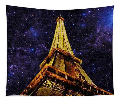 Eiffel Tower Photographic Art Tapestry
