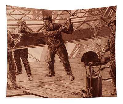 Eiffel Tower Riveters 1889 Tapestry