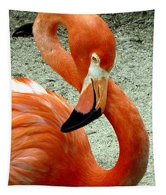 Figure Eight Flamingo Tapestry