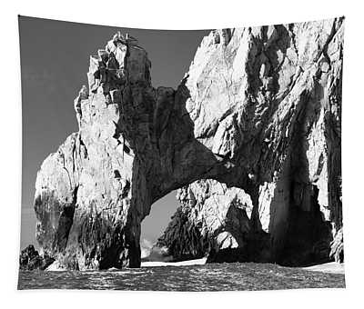 El Arco In Black And White Tapestry