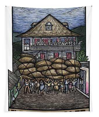 El Reino Del Cafe Tapestry by Ricardo Levins Morales