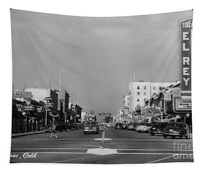 El Rey Theater Main Street Salinas Circa 1950 Tapestry