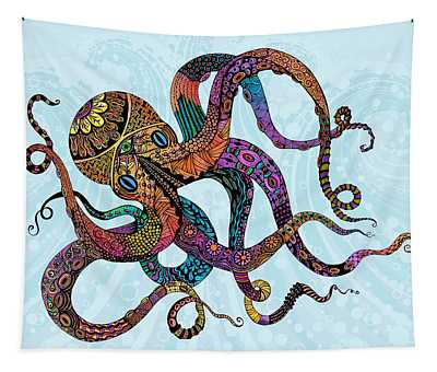 Electric Octopus Tapestry