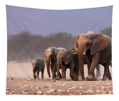 Elephant Herd Tapestry