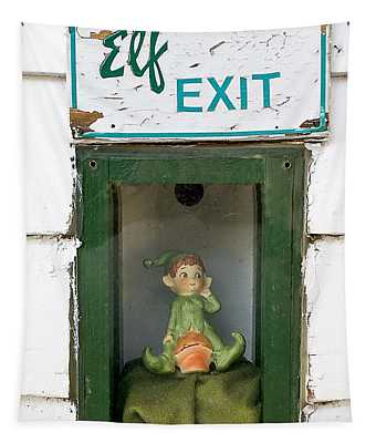 elf exit, Dubuque, Iowa Tapestry