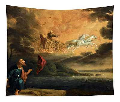 Elijah Taken Up Into Heaven In The Chariot Of Fire Tapestry