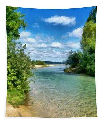 Elk River- Elk Rapids Michigan Tapestry