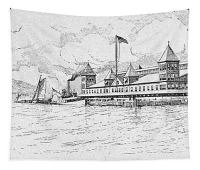 Ellis Island, 1891 Tapestry