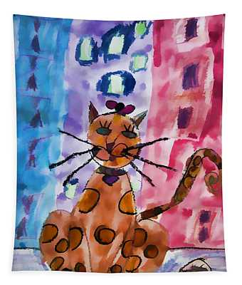 Emma's Spotted Kitty Tapestry