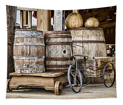 Emptied Barrels Tapestry