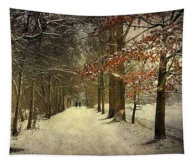 Enchanting Dutch Winter Landscape Tapestry