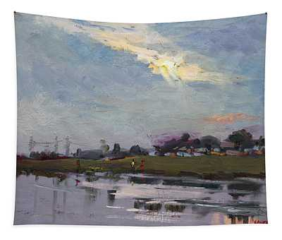 End Of Day By Elmer's Pond Tapestry