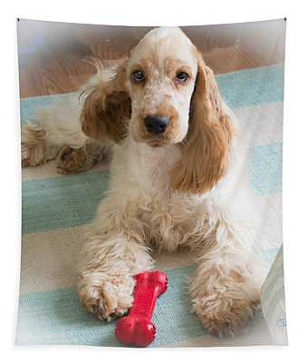 English Cocker Spaniel - Orange Roan Color Tapestry
