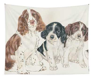 English Springer Spaniel Puppies Tapestry