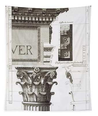 Entablature, Capital And Inscription Tapestry