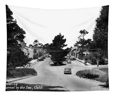 Entering Carmel By The Sea Calif. Circa 1945 Tapestry