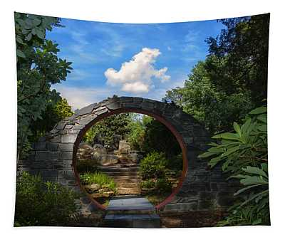 Entering The Garden Gate Tapestry