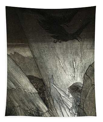 Erda Bids Thee Beware, Illustration Tapestry