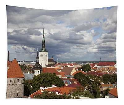 Estonia, Tallin, Overview Of The Old Tapestry
