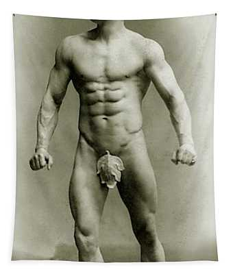 Eugen Sandow In Classical Ancient Greco Roman Pose Tapestry