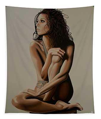 Eva Longoria Painting Tapestry