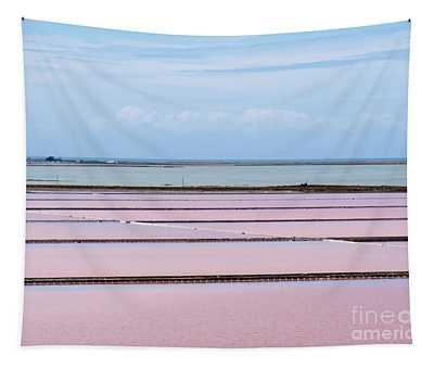 Evaporation Ponds Of Saline Refinery Saltworks Tapestry