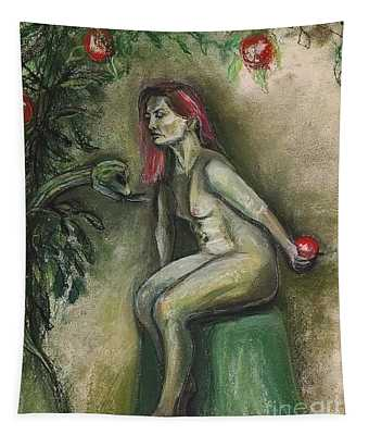 Eve In The Garden  Tapestry