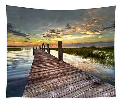 Evening Dock Tapestry