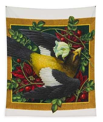 Evening Grosbeak Tapestry