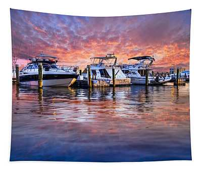 Evening Harbor Tapestry