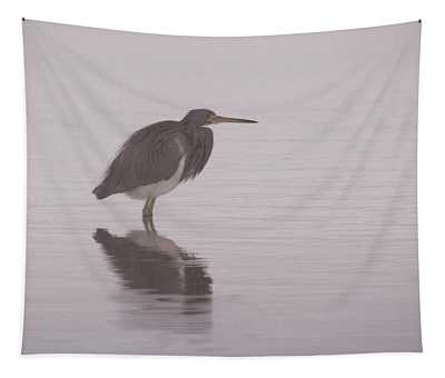 Evening Heron Tapestry