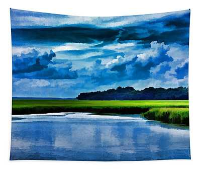 Evening On The Marsh Tapestry