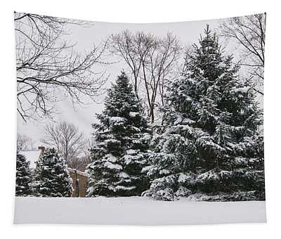 Evergreens In The Snow Tapestry