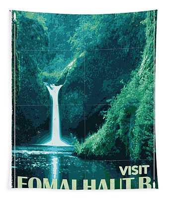 Exoplanet 04 Travel Poster Fomalhaut B Tapestry