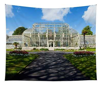 Facade Of Curvilinear Glass House Tapestry