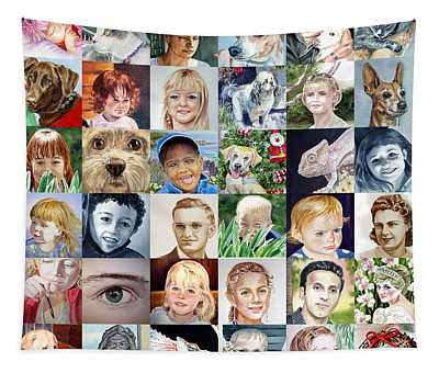 Facebook Of Faces Tapestry