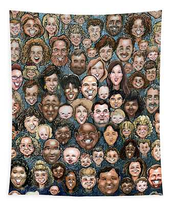Faces Of Humanity Tapestry