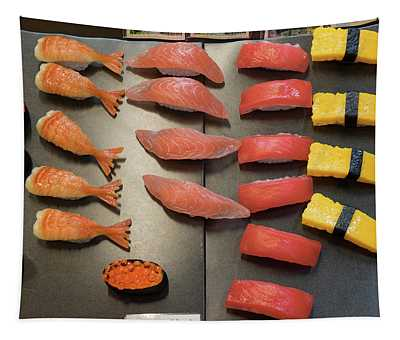 Fake Sushi For Restaurant Display Tapestry